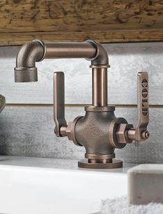 Creative Halloween Costumes - The Best Way To Be Artistic Over A Budget Forget Sleek And Polished: Industrial Pipe Faucet - The More Nuts And Bolts Will Surely Give Your Home A Modern and Contemporary Look. Industrial Bathroom Design, Black Faucet Bathroom, Shower Faucet, Bathroom Fixtures, Bathroom Styling, Wall Mounted Toilet, Industrial Bathroom, Industrial Bathroom Decor, Modern Bathroom Faucets