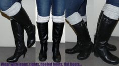 DIY Boot Legwarmers from a sweater