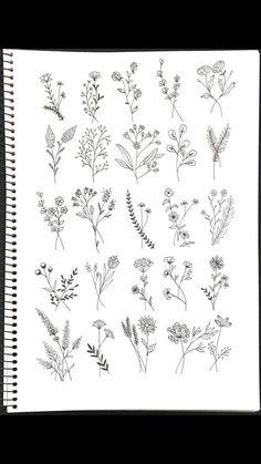 Wildflower Tattoo Ideen Flower Tattoo Designs - flower tattoos - The World Diy Tattoo, Hamsa Tattoo, Tattoo Art, Wrist Tattoo, Tattoo Moon, Tattoo Shoulder, Tattoo Outline, Line Tattoos, Trendy Tattoos