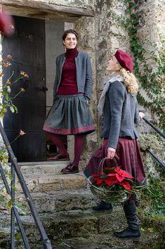 Folk Fashion, Autumn Fashion, Simple Style, My Style, Folk Style, Dress Skirt, Lace Skirt, Alpine Style, Cold Weather Outfits