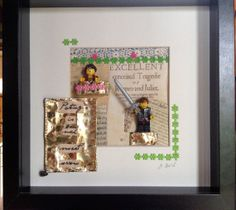 Shakespeare Romeo and Juliet  framed Lego by PaperSensation, £30.00