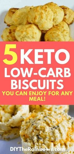 Many people love biscuits. So how can you enjoy biscuits when being on a ketogenic diet because it is said that biscuits are not low-carb? Fortunately with these 5 keto low-carb biscuits recipes youll be able to eat biscuits as a keto dessert. Healthy Low Carb Snacks, Low Carb Desserts, Keto Foods, Healthy Food, Healthy Eating, Low Carb Biscuit, Low Carb Bread, Keto Bread, Low Carb Soup Recipes