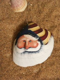 Sea shell Americana Ocean sea shell clam sculpted Uncle Sam