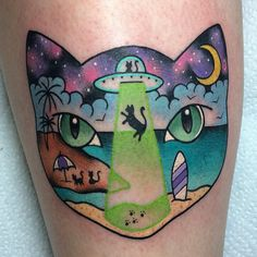 alexstrangler: Another cat tattoo for my bestie @vaginafriendly #catparty
