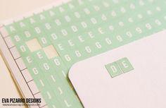 Tutorial: Mini Letras Adhesivas por @evapizarrov   Tutorial: Mini Alphabet Stickers by @evapizarrov