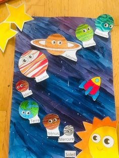 Solar System For Kids, Solar System Art, Solar System Projects, Preschool Art Projects, Preschool Crafts, Projects For Kids, Space Activities, Craft Activities, Science For Kids