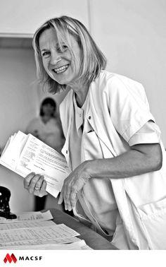 """Christine, infirmière / MACSF - Exposition """"Hospitalier en lumière"""""""