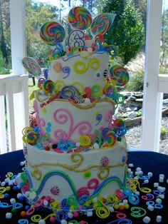 Whimsical Candy Birthday By Shalan on CakeCentral.com