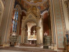 Oltář Cyril a Metoděj Praha - Kostel svatého Cyrila a Metoděje (Praha) Praha, Czech Republic, Bohemia