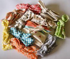 Infant Girl / Toddler Headband - Surprise Set - 3 Pack  - Organic Cotton Knit - Stretchy Headband on Etsy, $30.00