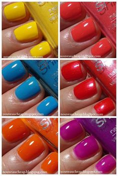 Swatches of the Wet n Wild Spring 2014 Limited Edition Street Art Collection