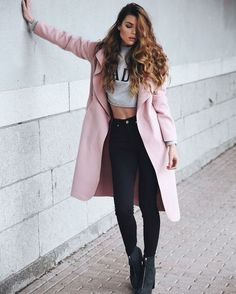 fashion, outfit, and pink image Pretty Outfits, Fall Outfits, Casual Outfits, Cute Outfits, Look Fashion, Autumn Fashion, Fashion Outfits, Womens Fashion, Looks Style