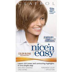 Clairol Nice 'n Easy Hair Color, 1 Kit Medium Ash Blonde, Brown To Blonde, Best Hair Dye, Neutral Blonde, Hair Kit, Lighter Hair, Champagne Blonde, Hair Color Shades, Pink Nail Designs