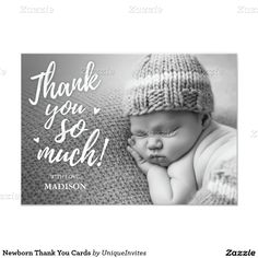 Newborn Thank You Cards