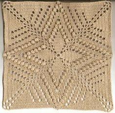 Crochet Granny Square Patterns ✦ ✧ ✦ Colcha de Crochê Com Quadrados - / ✦ ✧ ✦ Bedspread In Crochet With Squares - - Crochet Bedspread Pattern, Crochet Motifs, Crochet Lace Edging, Crochet Blocks, Granny Square Crochet Pattern, Crochet Squares, Thread Crochet, Crochet Granny, Crochet Blanket Patterns