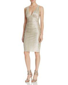 Laundry by Shelli Segal Metallic Twist Back Dress