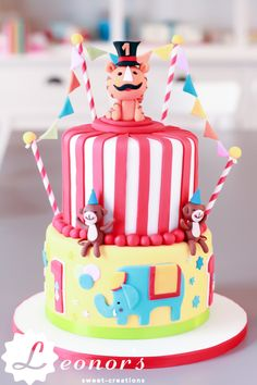 Boys Birthday Cake: Circus Animals | Jungs Geburtstags Kuchen: Zirkus & Tiere