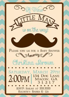 Little Man A Customizable Baby Shower by ImpressionsPaperie