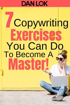 Are you interested in becoming a better copywriter? These 7 copywriting exercises will help you to become a master! To learn more about these exercises and enroll in my FREE copywriting certificate program. Click this pin now! Blog Writing Tips, Writing Skills, Writing Ideas, Writing Inspiration, Editing Writing, Writing Activities, Creative Writing, Writing Prompts, Marketing Digital