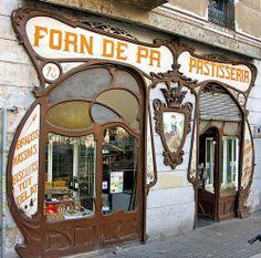 Art nouveau entrance in Barcelona