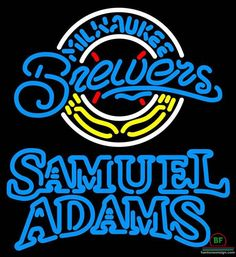 Samuel Adams Milwaukee Brewers Neon Sign MLB Teams Neon Light