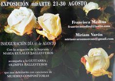 """Mª Francisca Medina: EXPOSICIÓN """"mirARTE"""" desde el 21 al 30 de Agosto  ..."""