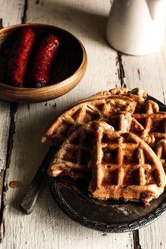 Sausage Waffles | #ParksandRec