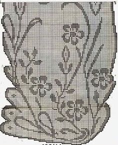 Kira scheme crochet: Floral tablecloth unusual shape