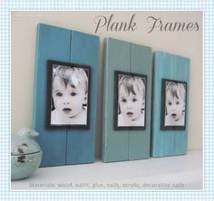 Plank frames photography home decor diy easy crafts frames