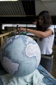 Meet the Craftsman Who Makes the World's Coolest Globes | WIRED #Globes