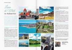 Nuestro segundo artículo colaborativo en la prestigiosa revista de bodas peruana De Novios, esta vez con un artículo a doble página en la que recomendamos algunos destinos poco convencionales en sudamérica para disfrutar de la luna de miel. http://issuu.com/feriadenovios/docs/revista_junio  2014
