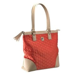 Christian Tote Bag - Quilted Salmon Bag with Engraved Cross