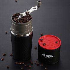 Alocs Camping Travel Coffee Grinding Machine  4 In 1 Brewed Coffee Bean Grinder Mug Cup