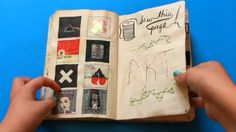 Found this video, she did some great pages. Finished Wreck This Journal (pop up video)