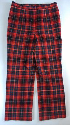 #Pendleton Tartan Plaid Lined Pants Vintage Womens 31 x 28 Actual http://etsy.me/1DWxl50 #etsy #vintageclothes #thrifting #vintageclothing