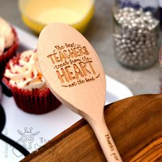 Buy Personalised The best teachers teach from the heart Spoon From The Crafty Giraffe, the home of unique and affordable gifts for loved ones. Teacher Treats, Teacher Appreciation Gifts, Teacher Favorite Things, Best Teacher, Wood Laser Ideas, Laser Cutter Ideas, Personalized Teacher Gifts, Wood Spoon, Craft Show Ideas