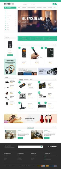 Comeback is wonderful responsive #Prestashop Theme for multipurpose #audio #gadgets eCommerce websites with 20+ stunning homepage layouts download now➝ https://themeforest.net/item/comeback-ecommerce-multipurpose-responsive-prestashop-theme/15981985?ref=Datasata