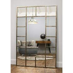 Stylish window mirror in a charcoal silver finish. Ideal for creating a faux window effect or as a normal vintage mirror. Measures x Learn more. Metal Window Frames, Faux Window, Window Mirror, Metal Mirror, Extra Large Mirrors, Industrial Mirrors, Industrial Metal, Interior Window Shutters, Circular Mirror