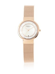 70% OFF Johan Eric Women's JE6000-09-009B Arhus Rose Gold-Tone IP Swarovski Crystal Date Mesh Bracelet Watch i want http://www.shop.com/sophjazzmedia/~~mesh+watches-internalsearch+260.xhtml