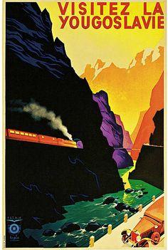 Visitez la Yougoslavie http://defharo.com/retro-posters-afiches-viajes/