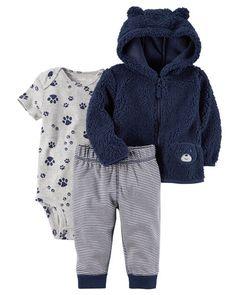 975a6485b 3-Piece Little Jacket Set Boys Hoodies, Sweatshirts, Carters Baby Boys,  Fleece