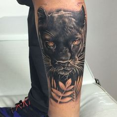 Black Panther Animal Tattoo Meaning Wolf Tattoos, Animal Tattoos, Leg Tattoos, Black Tattoos, Body Art Tattoos, Sleeve Tattoos, Jaguar Tattoo, Panther Tattoo Meaning, Animal Tattoo Meanings