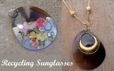 Diy fashion jewelry ideas-a piece of diy recycled jewelry out of idle sunglass – Pandahall Diy Projects For Teens, Crafts For Teens, Fun Crafts, Craft Projects, Diy Schmuck, Schmuck Design, Recycled Jewelry, Handmade Jewelry, Diy Fashion