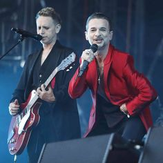 Martin Gore and Dave Gahan of Depeche Mode - Global Spirit Tour