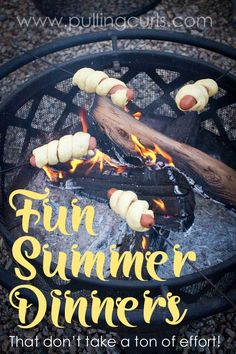 fun summer dinner   firepit   fire   campfire   hot dogs   rolls   bread on a stick Camping Recipes, Camping Cooking, Camping Meals, Tent Camping, Camping Hacks, Glamping, Family Camping, Camping With Kids, Backpacking Gear