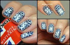 Stamping Saturdays: Winter Sweaters. Manglaze Royal Mattermoaning, Rica Whiteout, MoYou London Festive 04