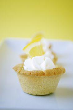 Mini Lemon Tarts - pastry crust, meyer lemon juice and cream cheese filling