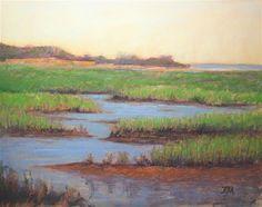 Across of The Marsh. - Original Fine Art for Sale - © by Tatiana Myers