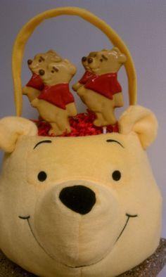 Winnie the Pooh Stuffed Animal Basket with by Chocoliciouslyme, $34.95