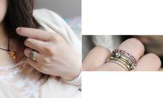 Exquisite vintage jewelry rings - 4pcs - $4.99USD